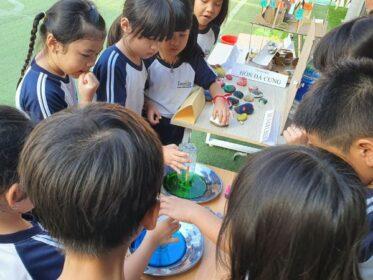 Thí nghiệm khoa học tại Trường tư thục tphcm ISP schools
